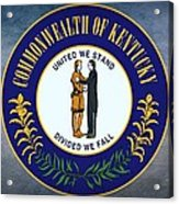 The Great Seal Of The State Of Kentucky  Acrylic Print