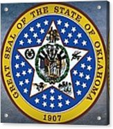 The Great Seal Of The State Of Oklahoma Acrylic Print