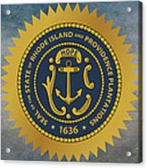 The Great Seal Of The State Of Rhode Island Acrylic Print