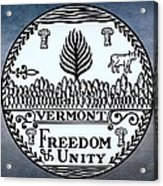 The Great Seal Of The State Of Vermont Acrylic Print