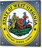 The Great Seal Of The State Of West Virginia Acrylic Print