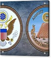 The Great Seal Of The United States Obverse And Reverse Acrylic Print