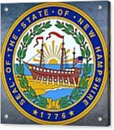 The Great Seal Of The State Of New Hampshire Acrylic Print