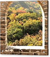 The Great Wall Window Acrylic Print