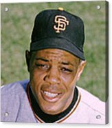 The Great Willie Mays Acrylic Print by Retro Images Archive
