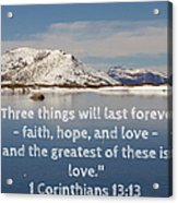 The Greatest Is Love Acrylic Print