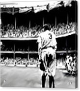 The Greatest Of All  Babe Ruth Acrylic Print by Iconic Images Art Gallery David Pucciarelli