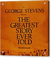 The Greatest Story Every Told, Us Acrylic Print