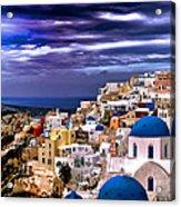 The Greek Isles Santorini Acrylic Print