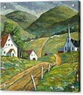 The Green Hills Acrylic Print