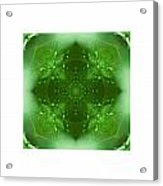 The Green Jewel Of Nature Mandala Acrylic Print