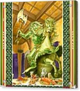 The Green Knight Christmas Card Acrylic Print