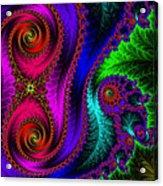 The Green Leaf Fractal Acrylic Print