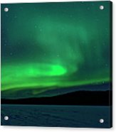 The Green Light Of The Aurora Acrylic Print