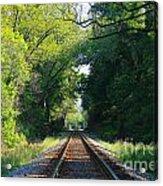 The Green Line Railroad Track Art Acrylic Print