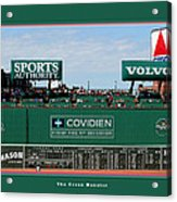 The Green Monster Fenway Park Acrylic Print