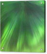 The Green Northern Lights Corona Acrylic Print