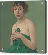 The Green Ribbon Acrylic Print
