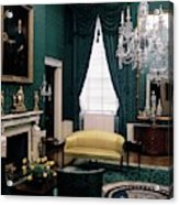 The Green Room In The White House Acrylic Print