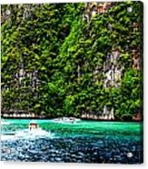 The Green Sea Acrylic Print by Vijinder Singh