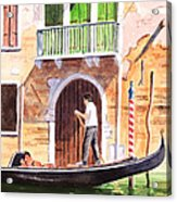 The Green Shutters - Venice Acrylic Print