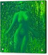 The Green Wood Nymph Calls Acrylic Print