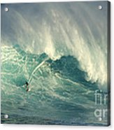 Surfing The Green Zone Acrylic Print