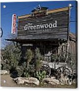 The Greenwood Dancehall And Saloon Bluff Dale Texas Acrylic Print