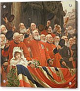 The Guards Cheer, 1898 Acrylic Print