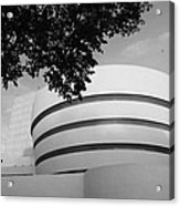 The Guggenheim Museum In Black And White Acrylic Print