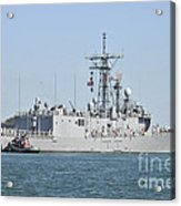 The Guided-missile Frigate Uss De Wert Acrylic Print