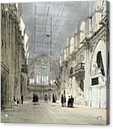 The Guildhall, Interior, From London As Acrylic Print