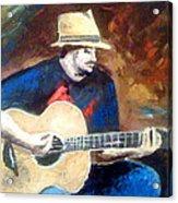 The Guitarist Acrylic Print by Soumya Bouchachi