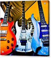 The Guitars Of Jimmy Dence - The Kingpins Acrylic Print by David Patterson
