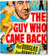 The Guy Who Came Back, Us Poster, Paul Acrylic Print