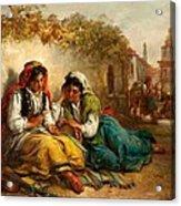 The Gypsies Acrylic Print by Thomas Kent Pelham