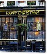The Happy Christmas Pub Acrylic Print