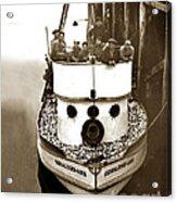 The Happy Crew Of The Fishing Boat  Geraldine- Ann Monterey California 1939 Acrylic Print