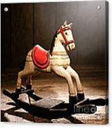 The Happy Little Rocking Horse In The Attic Acrylic Print