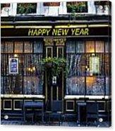 The Happy New Year Pub Acrylic Print