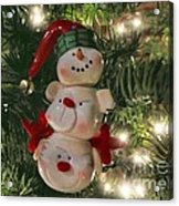 The Happy Snowman Acrylic Print