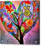 The Happy Tree Acrylic Print by Denisse Del Mar Guevara