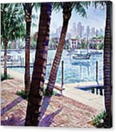 The Harbor Palms Acrylic Print