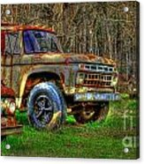 The Hard Headed Ford Work Horses. Acrylic Print