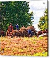 The Harvest Impasto Acrylic Print