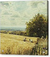 The Harvesters Acrylic Print by Edmund George Warren