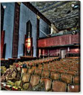 The Haunted Cole Theater Acrylic Print