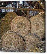 The Hay Barn Acrylic Print