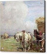 The Hay Wagon Acrylic Print