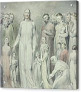 The Healing Of The Woman With An Issue Of Blood Acrylic Print by William Blake